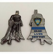 NYPD NEW YORK POLICE DEPT CHALLENGE COIN BATMAN BLUE LIVES MATTER THIN BLUE LINE