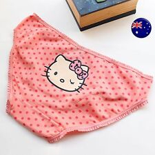 Women Lady Cute Cotton Orange Hello Kitty Pantie Underwear Lingerie Undies AUS 8