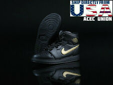 1/6 Men Shoes Nike Air Style BLACK For Hot Toys Phicen Male Figure U.S.A. SELLER