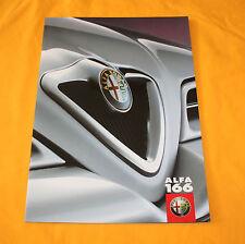 Alfa Romeo 166 1999 Prospekt Brochure Prospetto Depliant Catalog Folder Broschyr