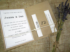 Tying the Knot rustic wedding invitation/kraft card invitation/vintage
