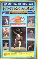 1990 MLBaseball Poster Book 12 Autograhed Power Pitchers Ryan Hershiser Clemen..