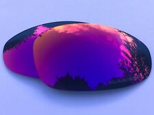 NEW ENGRAVED POLARIZED + RED CUSTOM MIRRORED REPLACEMENT OAKLEY JULIET LENSES