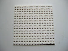 "Lego WHITE 16x16 stud Flat Plate 5""x5"" Base Plate Arctic, Snow -Part # 91405"