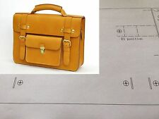 Leather Pattern DIY Designs Man Bag Paper Sweing Template Tools 9004