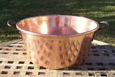 Copper 5 Qt. Jam Pot/Pan w/ thick rolled rim, AWESOME LUSTER