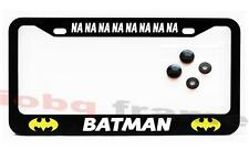 BATMAN NA NA NA NA NA NA NA NA Black license plate frame + Screw Caps