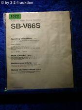 Sony Bedienungsanleitung SB V66S (#1022)