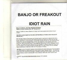 (DT459) Banjo Or Freakout, Idiot Rain - 2011 DJ CD