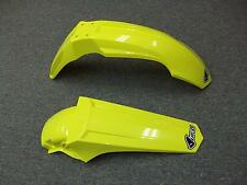 NEW YELLOW UFO RESTYLED FRONT + REAR FENDER SUZUKI RM85 RM 85 85L BIG BIKE STYLE