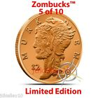 "2014 COPPER ZOMBIE BULLION ""MURK DIEM"" Z2 ZOMBUCKS ROUND 1 OZ .999 FINE 5 of 10"