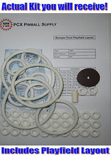 1969 Gottlieb Bumper Pool Pinball Machine Rubber Ring Kit