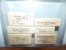 Stampin Up Let the Fun Begin Retire Opportunity Wood Mount Stamp Set of 6 L1016