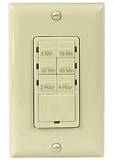 Refurbished Enerlites HET06 In-Wall 4Hr Countdown Timer Light Switch Ivory