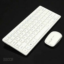 Slim 2.4GHz Mini Wireless Keyboard and Cordless Mouse Kit For Desktop Laptop PC