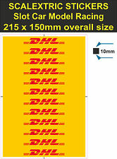 Slot car / Scalextric stickers Model Race DHL Logo Lego decal adhesive vinyl T