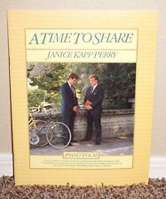 A Time to Share Piano/Vocal by Janice Kapp Perry 1986 LDS Mormon Tall PB