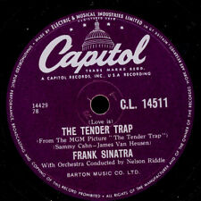 FRANK SINATRA  -THE VOICE- The Tender Trap / Weep they will     78rpm  S3746