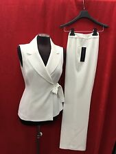 "Albert Nipon PANT SUIT/NEW WITH TAG/RETAIL$280/SIZE 4/INSEAM 32""/OFF WHITE"