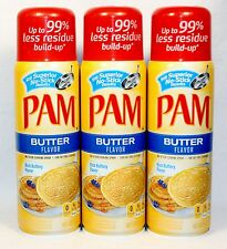 3 PAM No-Stick Cooking Spray BUTTER FLAVOR Oil