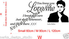 WALL QUOTE STICKERS JUSTIN BIEBER  Wall Stickers WALL ART STICKERS S37