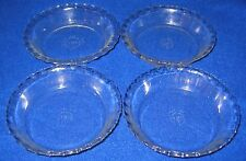 """4 -Vintage Pyrex 6"""" #206 A-1 Pie Plates Tart Dishes Ruffled Fluted Ovenware RARE"""