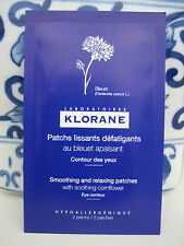 NEW KLORANE SOOTHING RELAXING UNDER EYE CONTOUR DECONGESTING PATCHES MASK PADS