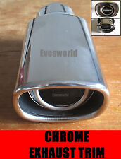 CHROME EXHAUST TAILPIPE TRIM TIP END MUFFLER FINISHER FIAT PANDA