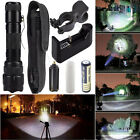 5000LM XM-L T6 LED Zoomable Tactical Flashlight Torch Lamp+Battery+Charge US Lot