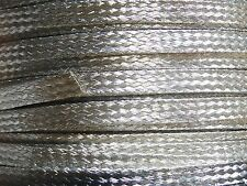"15 Ft' Flat Braided Tinned Copper Wire 1/4"" Wide Ground Strap USA"