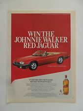 1988 Print Ad Johnnie Walker Red Label Whiskey ~ XJ-S Jaguar Convertible Car