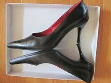 -Högl Black Pointed Toe Leather Pump Shoe Classic Heel Size 5 (EU) 37,5 7,5 (US)