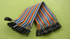 40PCS 100cm Dupont Wire Connector Cable Female to Female 1P-1P 2.54mm Jumper