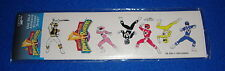 New Old Stock Power Rangers Sticker Sheet 1995 Sealed Mint