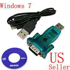 USB 2.0 to RS232 Serial Port 9 Pin DB9 High Speed Adapter Cable Converter New