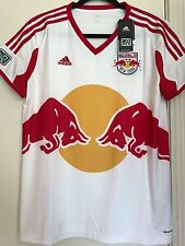 NWT 2012 New York Red Bulls Adidas Soccer Authentic Womens MLS Jersey Size L