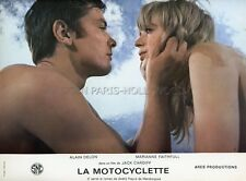 ALAIN DELON MARIANNE FAITHFULL  THE GIRL ON A MOTORCYCLE 1968 LOBBY CARD #2