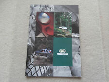 Land Rover Freelander Accessories..Brochure.1998.Collectors condition