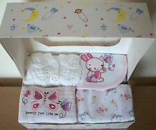 Newborn Baby Girls Clothes Gift Pink Butterfly Bunny Baby Shower New Baby Girl W