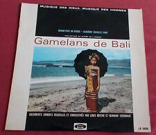 GAMELANS DE BALI LP  MUSIQUE DES DIEUX  COLLECTION MUSEE DE L'HOMME  BAM