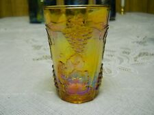 INDIANA CARNIVAL GLASS GOLD HARVEST PATTERN 4 INCH JUICE GLASS