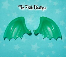 MONSTER HIGH CAM CREATE A MONSTER DRAGON DOLL REPLACEMENT PAIR GREEN WINGS ONLY