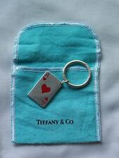 AUTHENTIC RARE! 1992 VINTAGE TIFFANY & CO ACE OF HEARTS 925 SILVER KEYCHAIN -