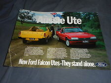 1985 Ford Falcon Utes from Australia Color Brochure Catalog  Prospekt