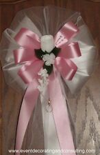 ELEGANT Satin Ribbon Pew Bows for Weddings