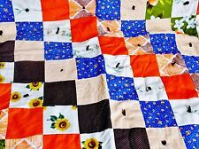 """Handmade Baby Quilt / Blanket, scrappy pattern, Crib size, Special Gift """"34 x 48"""