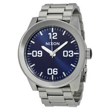 Nixon Corporal Blue Sunray Dial Stainless Steel Mens Watch A3461258