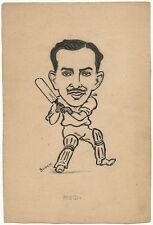 Cricket India 1946 England tour Rusi Modi pen sketch by cartoonist R Booch Ӝ