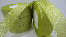 "NEW 5yards 1 ""25mm glitter ribbons Bling for DIY Wreaths decorated and Bows T16E"