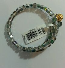 ALEX and ANI VINTAGE 66 TEAL STARRY-EYED SWAROVSKI CRYSTAL Bangle Bracelet  NWT